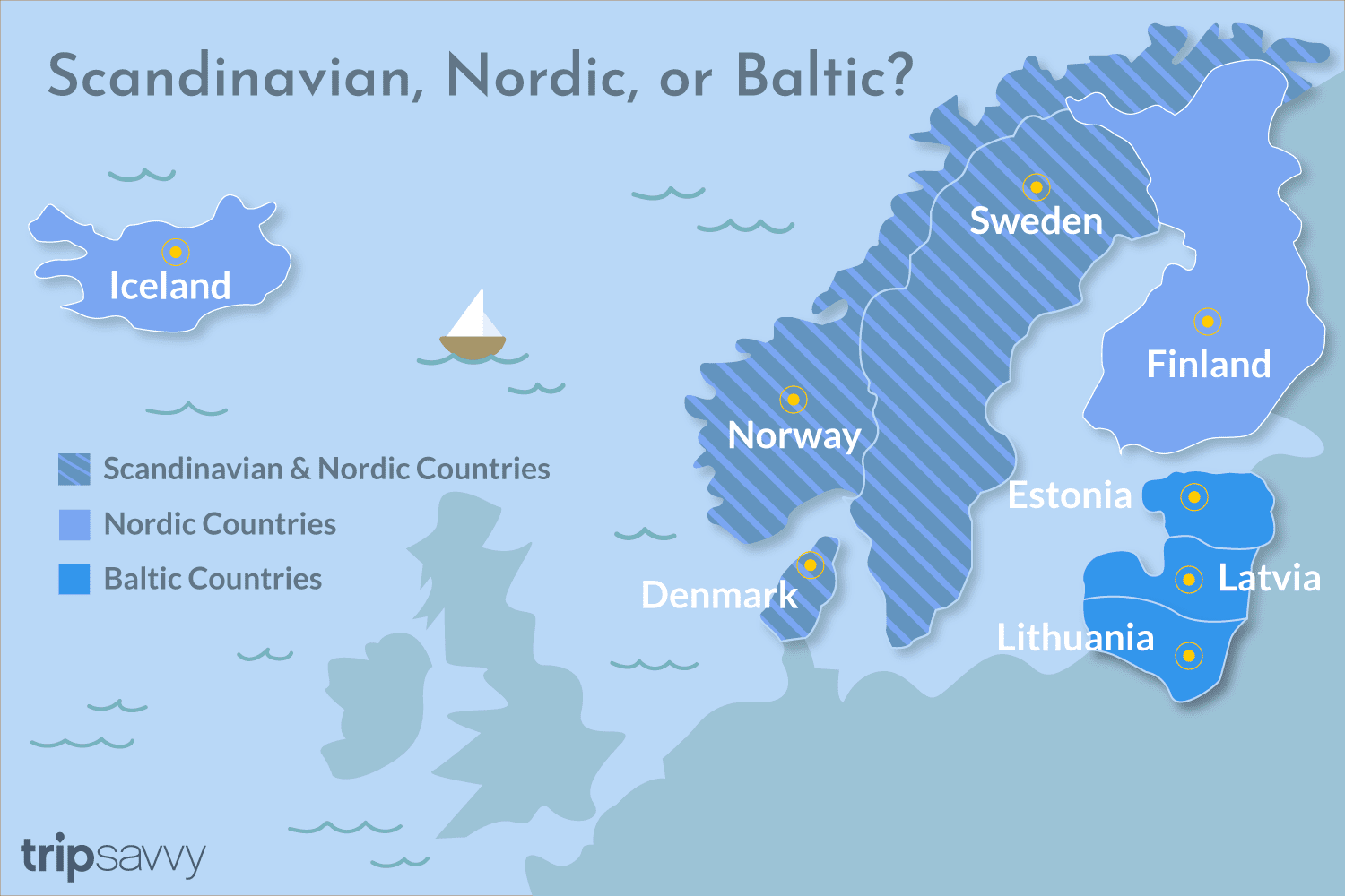 Nordic Europe Map.The Difference Between Scandinavian And Nordic