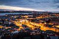 The city of Lisbon at night