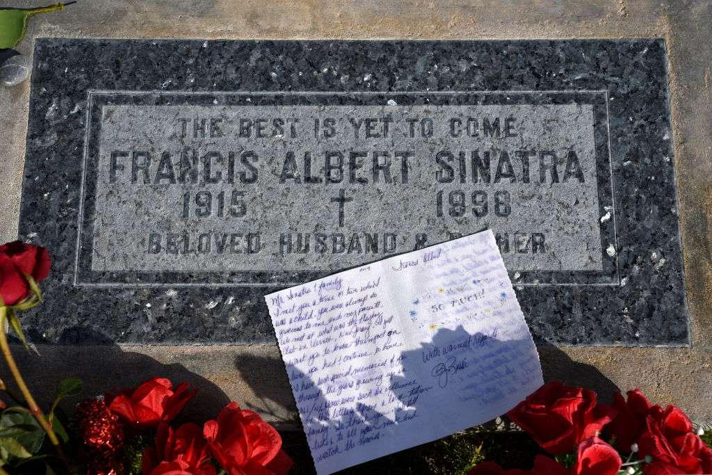 Singer Frank Sinatra's grave in California, USA
