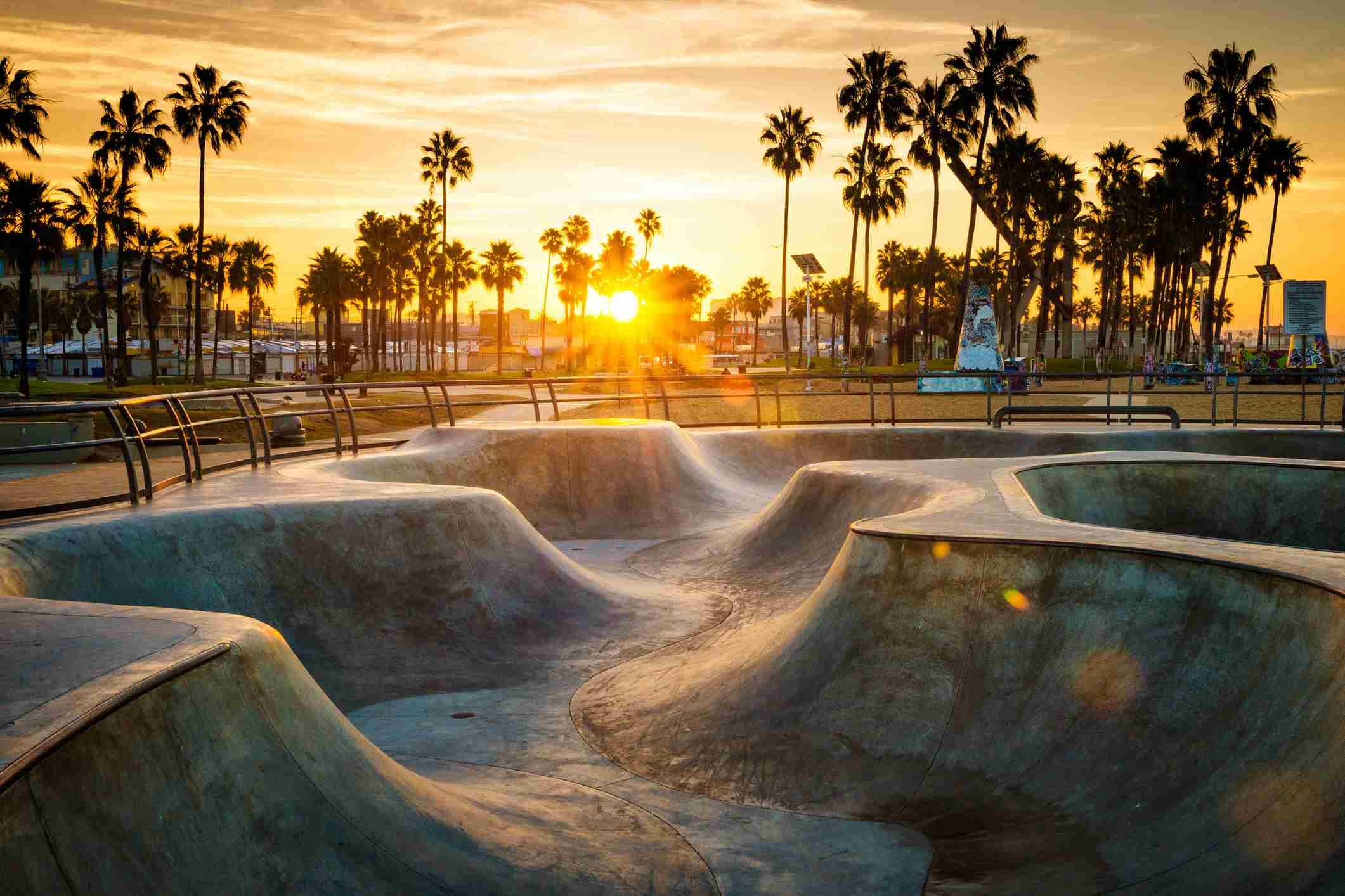 Venice Beach skate park, Los Angeles, CA.