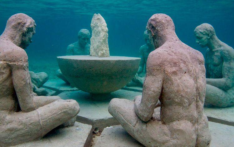 Understanding sculpture at Punta Nizuc in Cancun