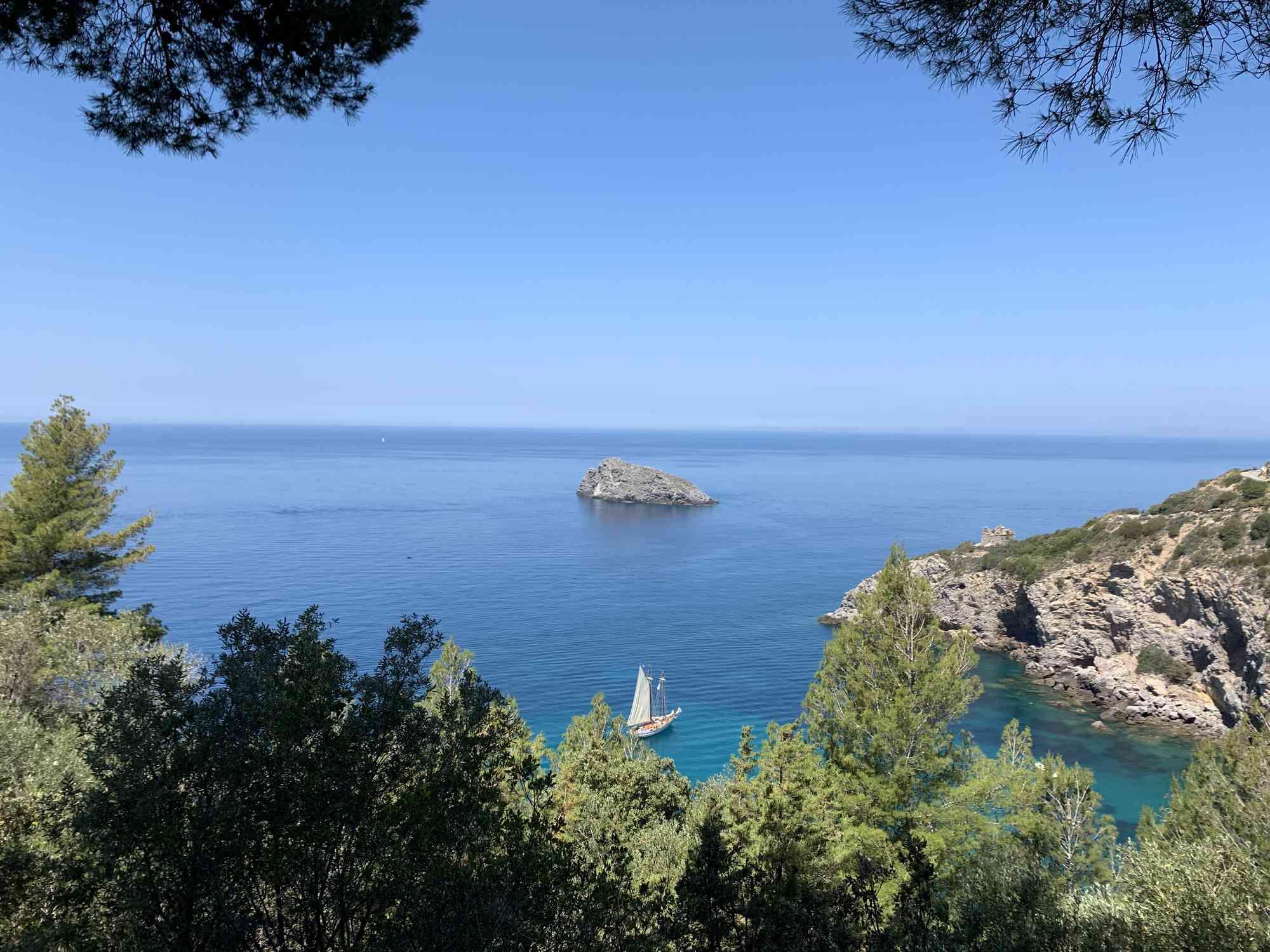 The cove at Cala di Gesso, Monte Argentario