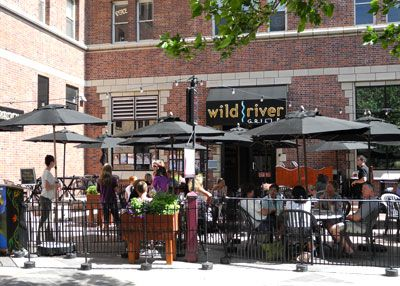Wild River Grille Outside Dining Patio Downtown Reno Nevada Nv