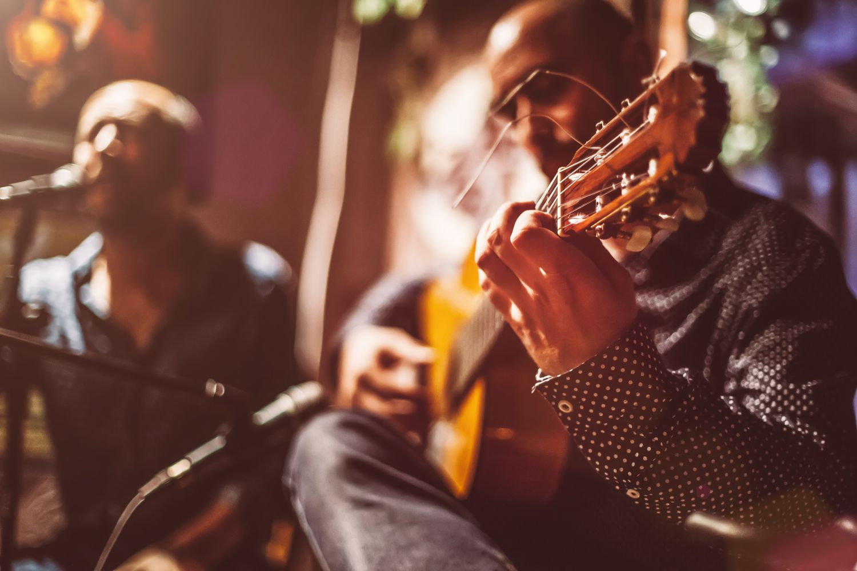 Flamenco guitar players