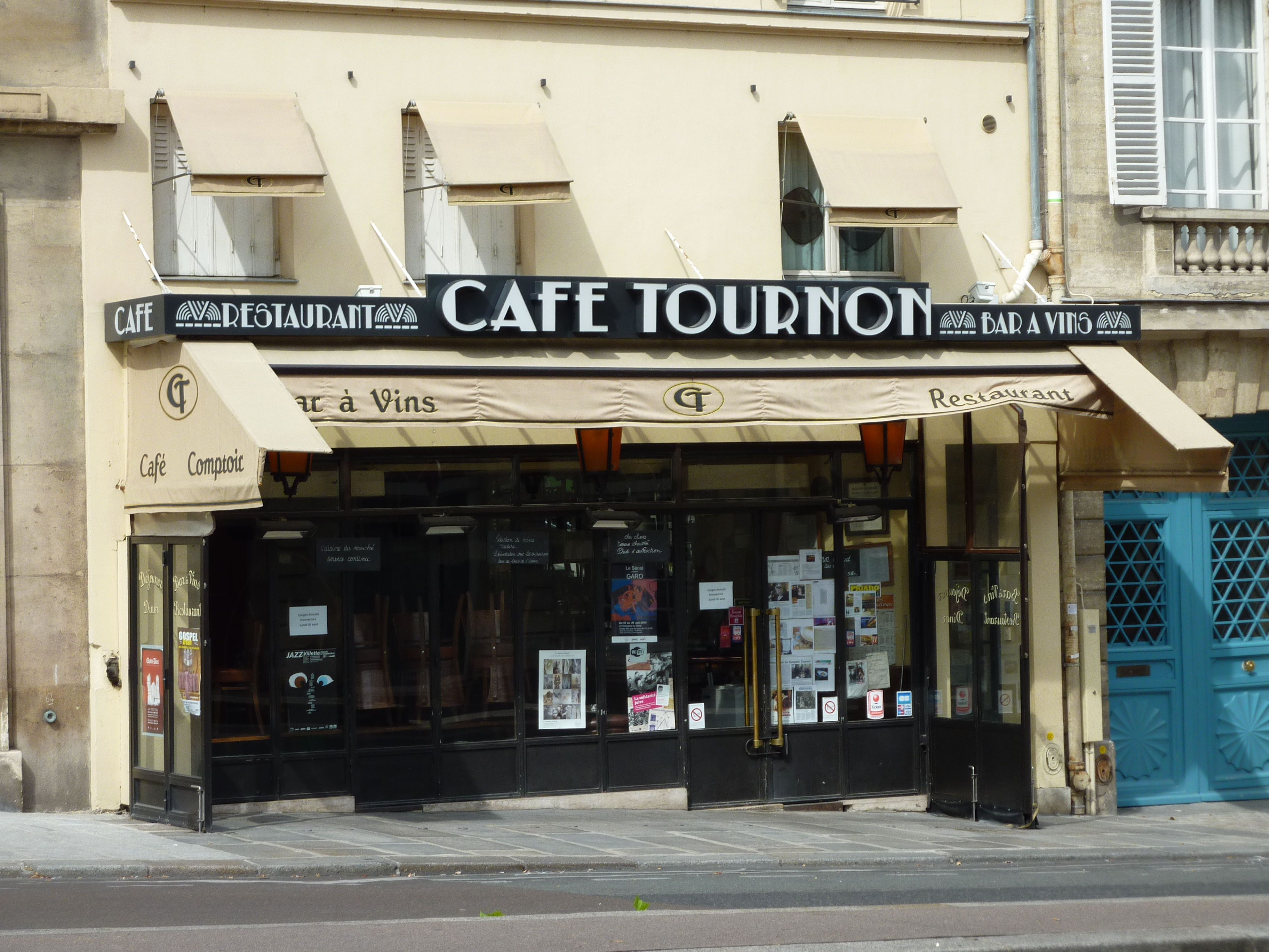 Front of Cafe Tournon