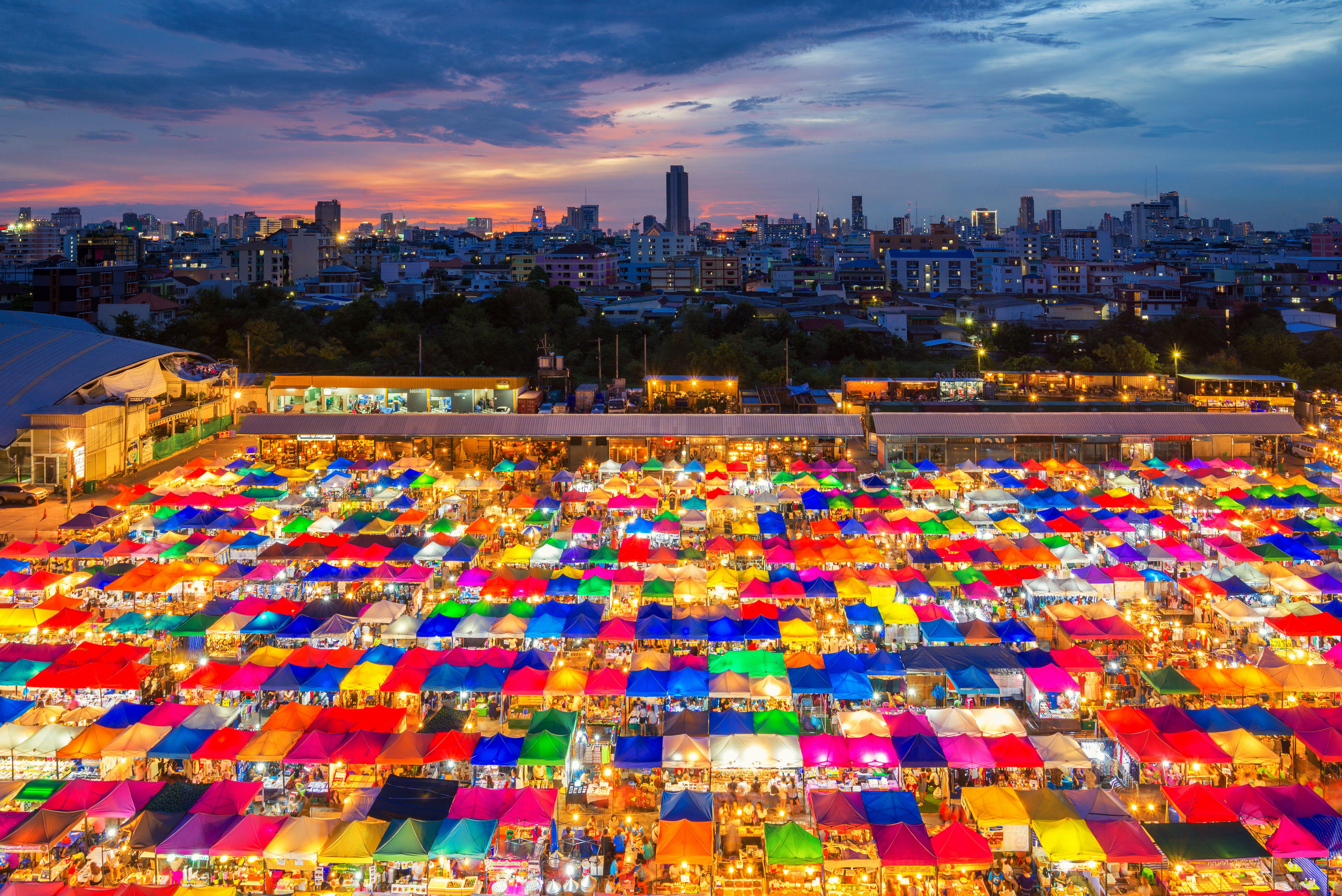 Mercado de fin de semana Chatuchak en Bangkok