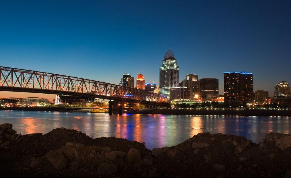 Cincinnati skyline - stock photo