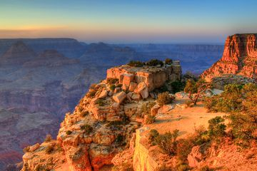 Evening sun in the Grand Canyon