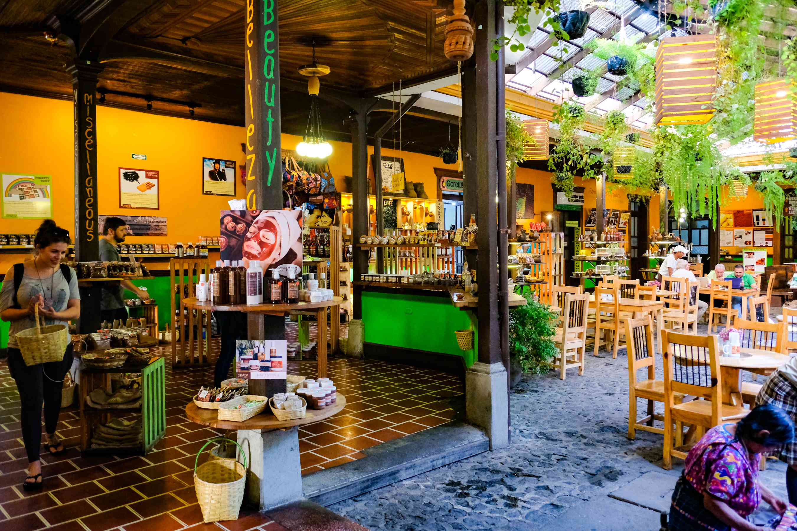 A restaurant with an patio in Antigua
