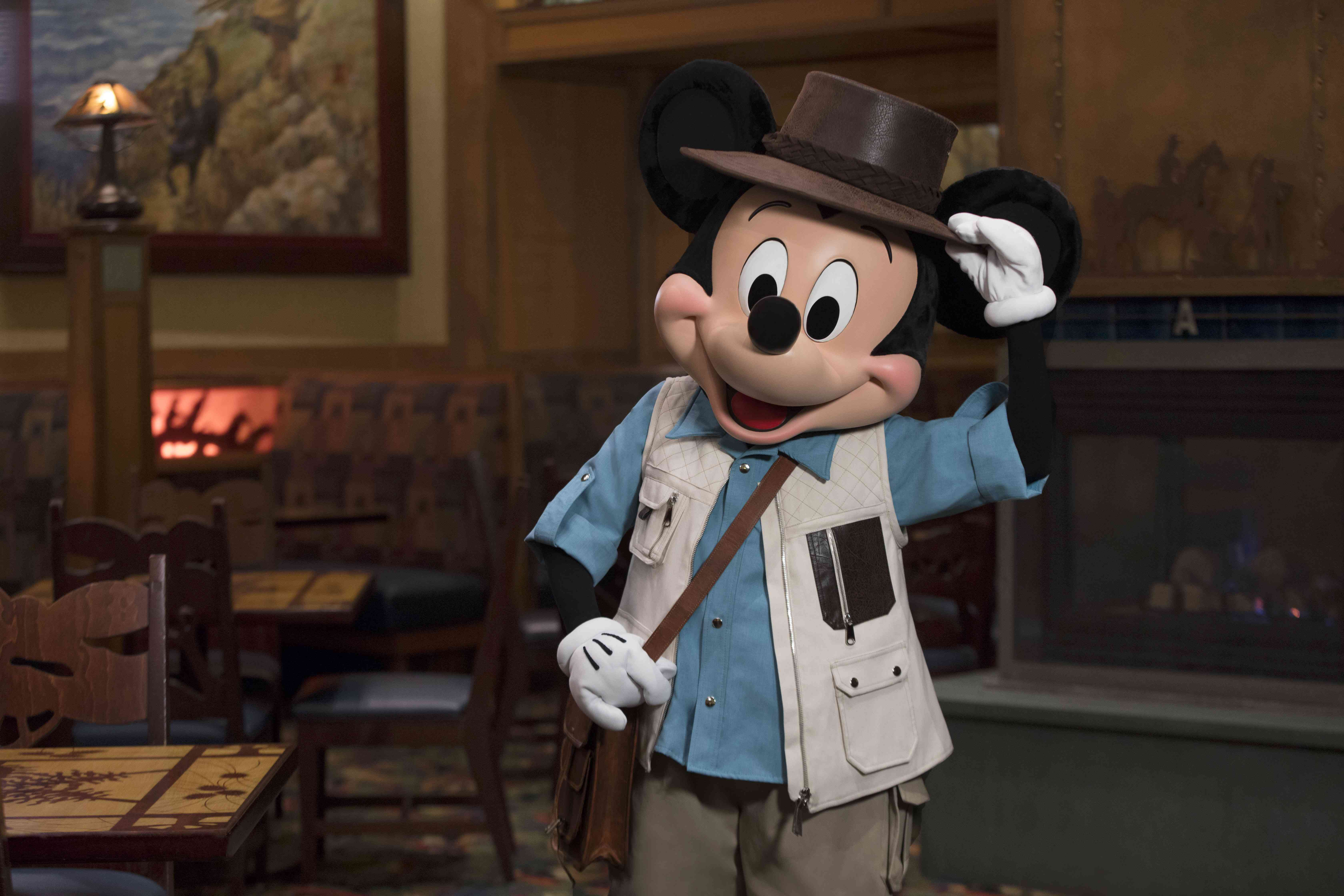 Mickey Mouse at Disneyland character meal
