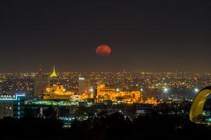 Aerial View Of Guadalajara Lit Up At Night