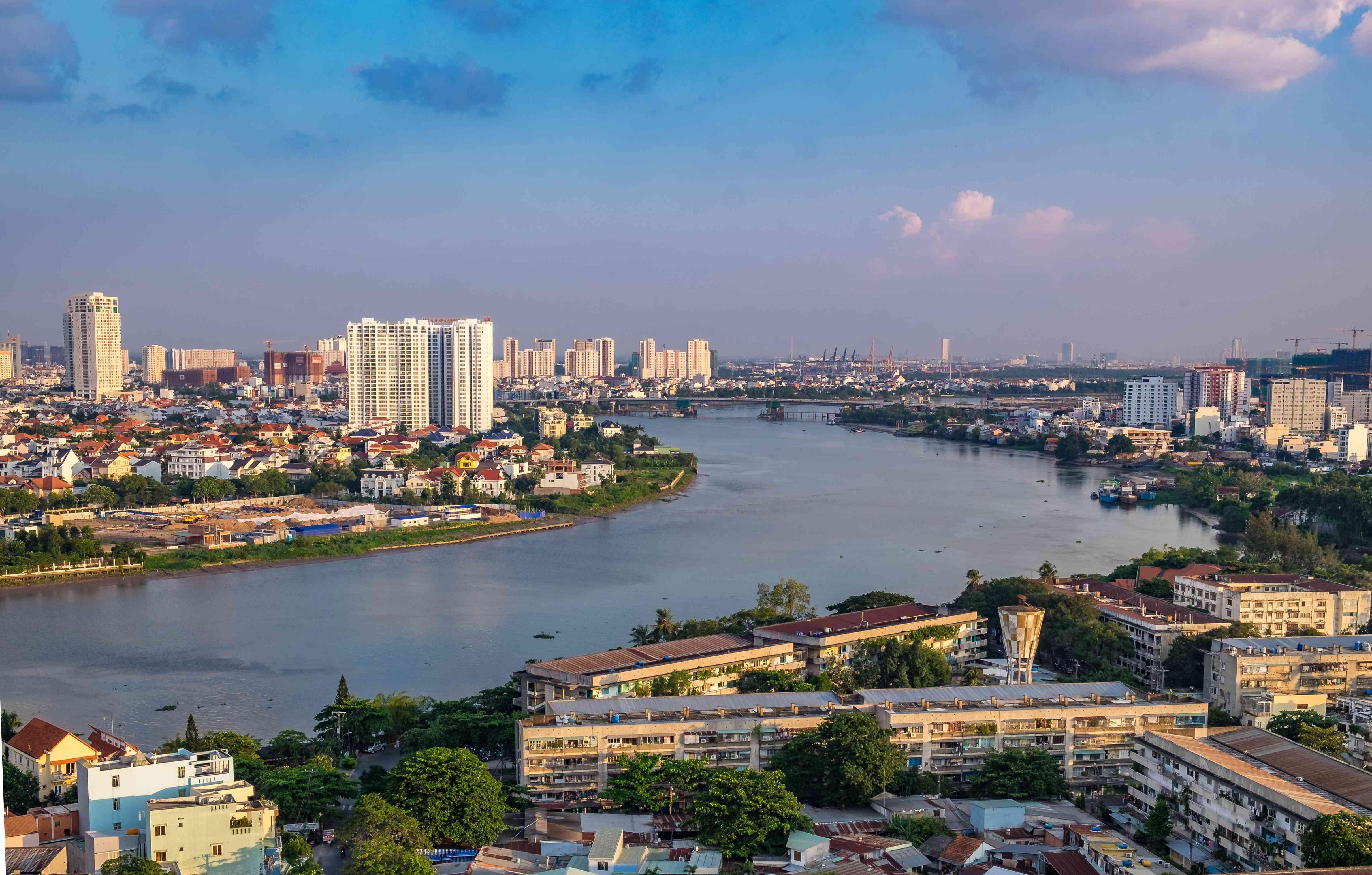 Condos and the Saigon River by Thao Dien