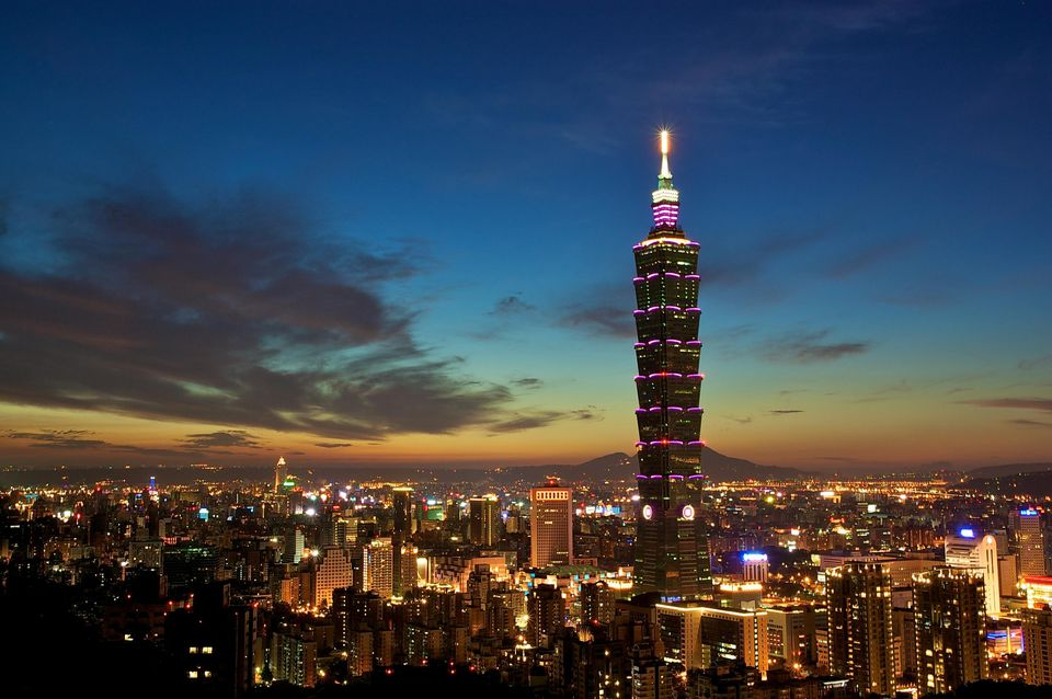 Taipei 101 tower in Taiwan