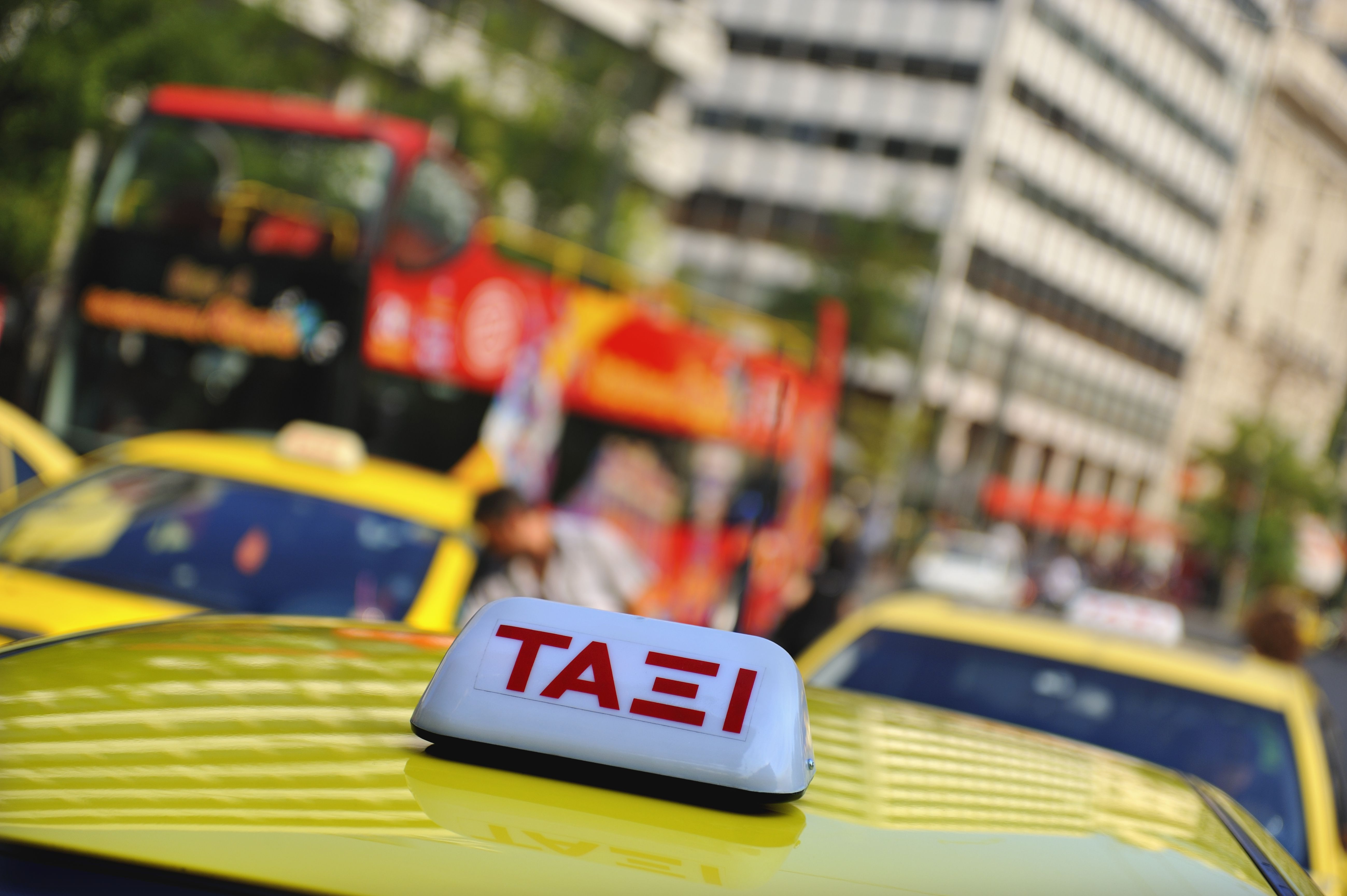 Taxis en la plaza Syntagma