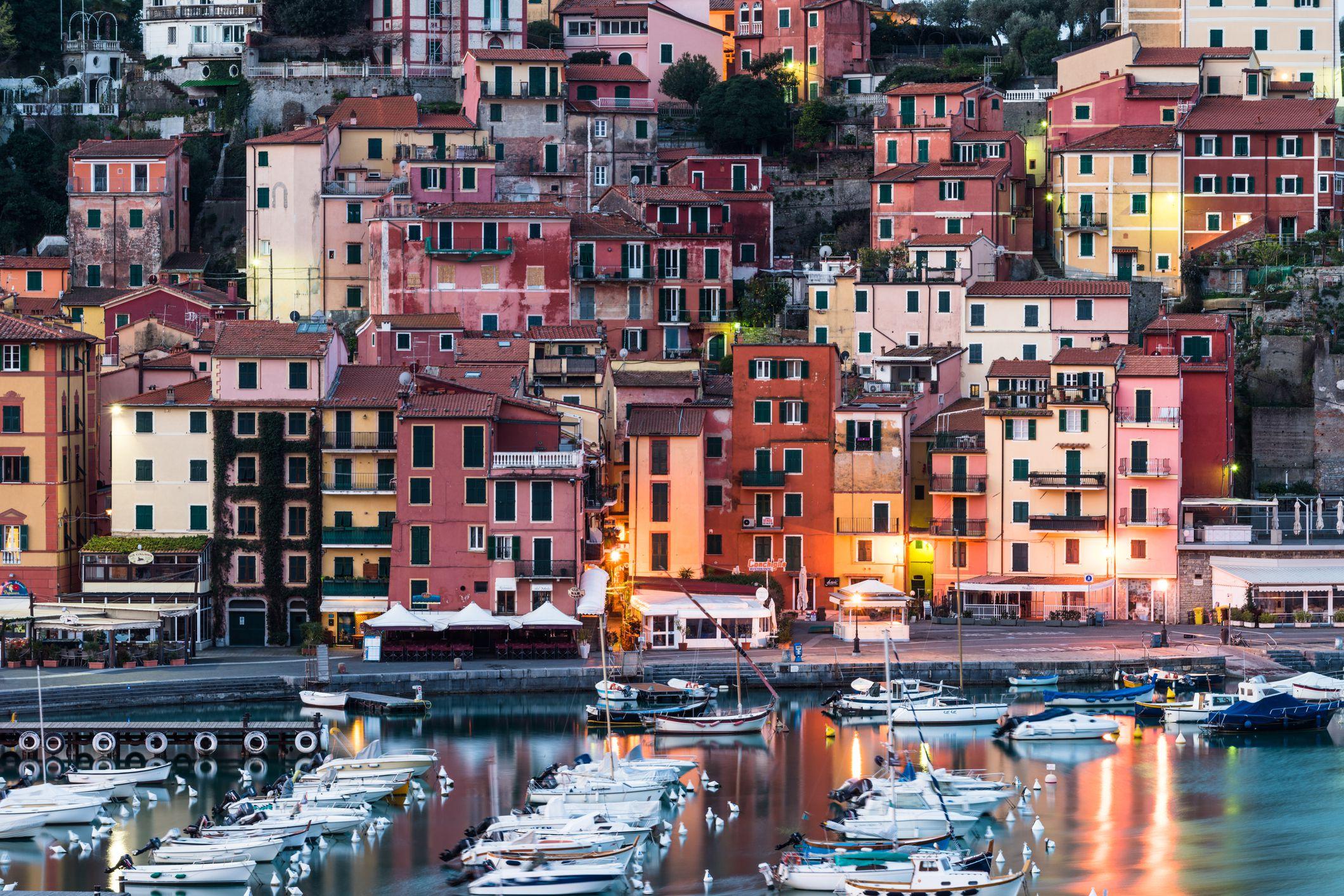 Lerici bay at sunrise, Italy