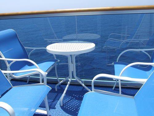 Balcony for an Emerald Princess Cruise Ship Mini Suite Emerald Princess Cabins - Mini Suite D208 on Dolphin Deck 9