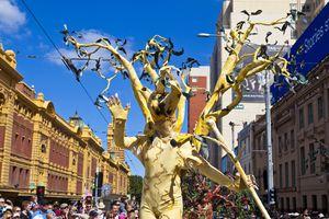 Participant in Moomba Festival Parade. Melbourne, Victoria, Australia, Australasia
