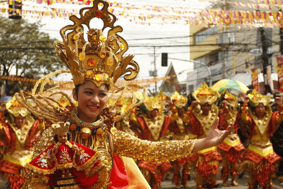 Sinulog dancer in Cebu, Philippines