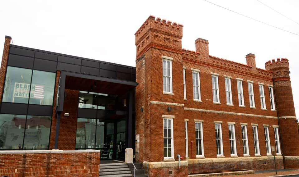 The Black History Museum & Cultural Center, an old brick building with a black add-on