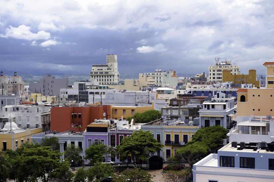 An urban view of Old San Juan.