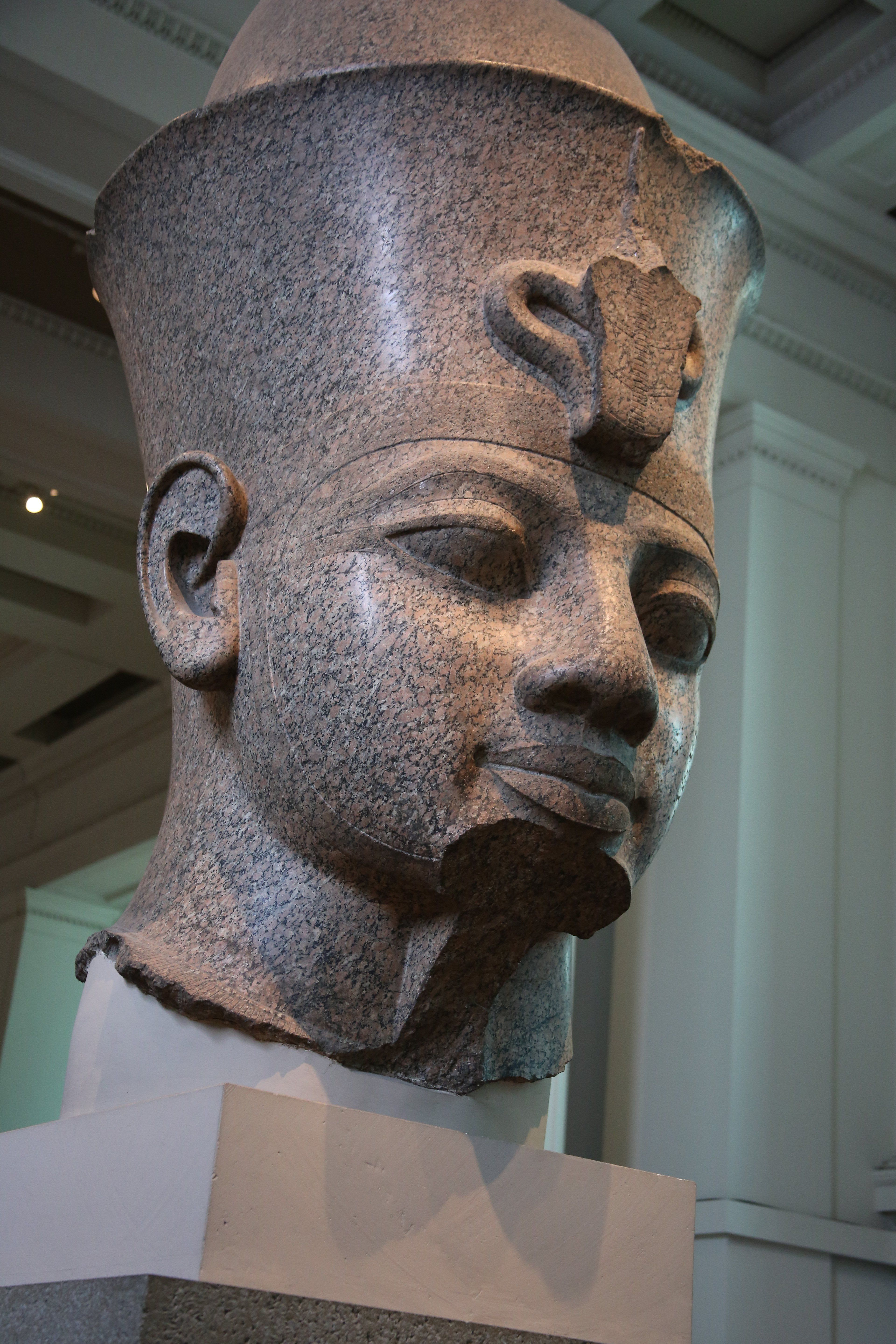 Colossal Granite Head of Amenhotep III at the British Museum