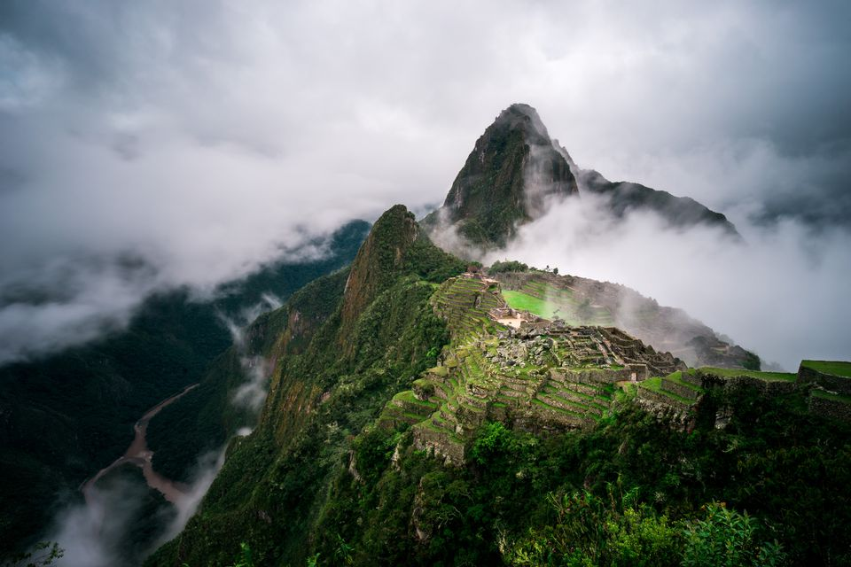 Machu Picchu in the fog, Cuzco, Peru