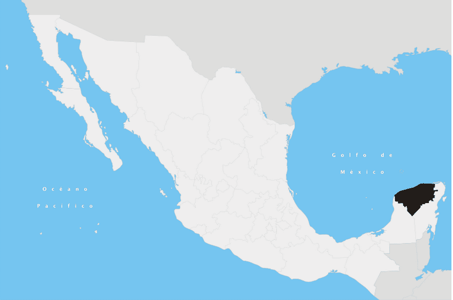 Yucatan State in Mexico
