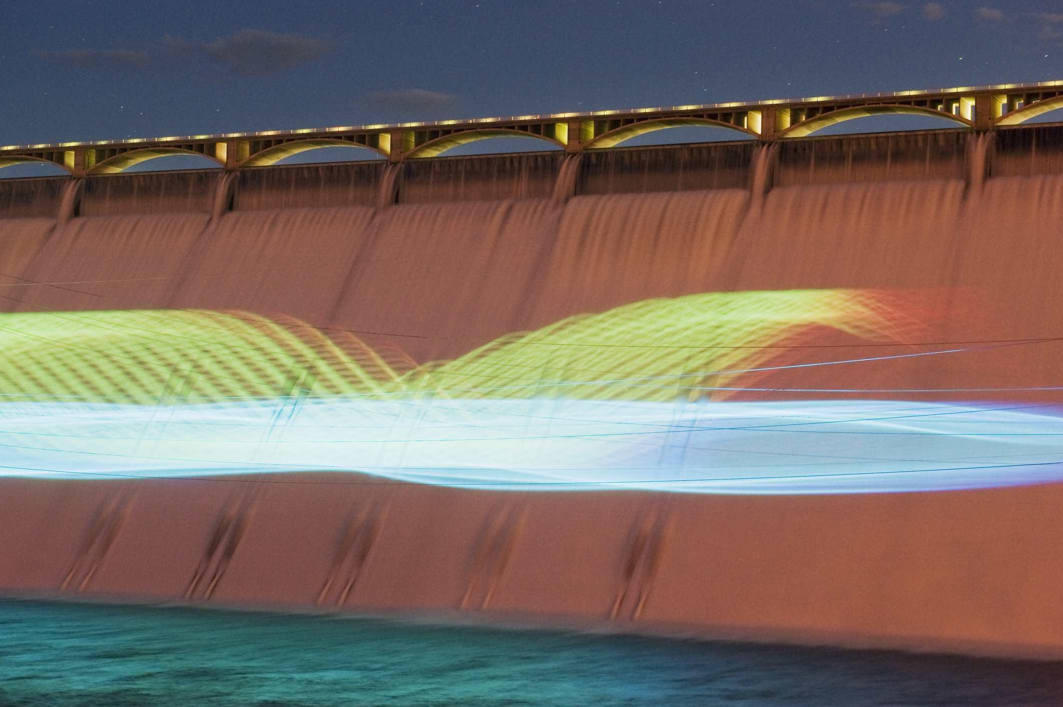 Show de láser de la presa Grand Coulee