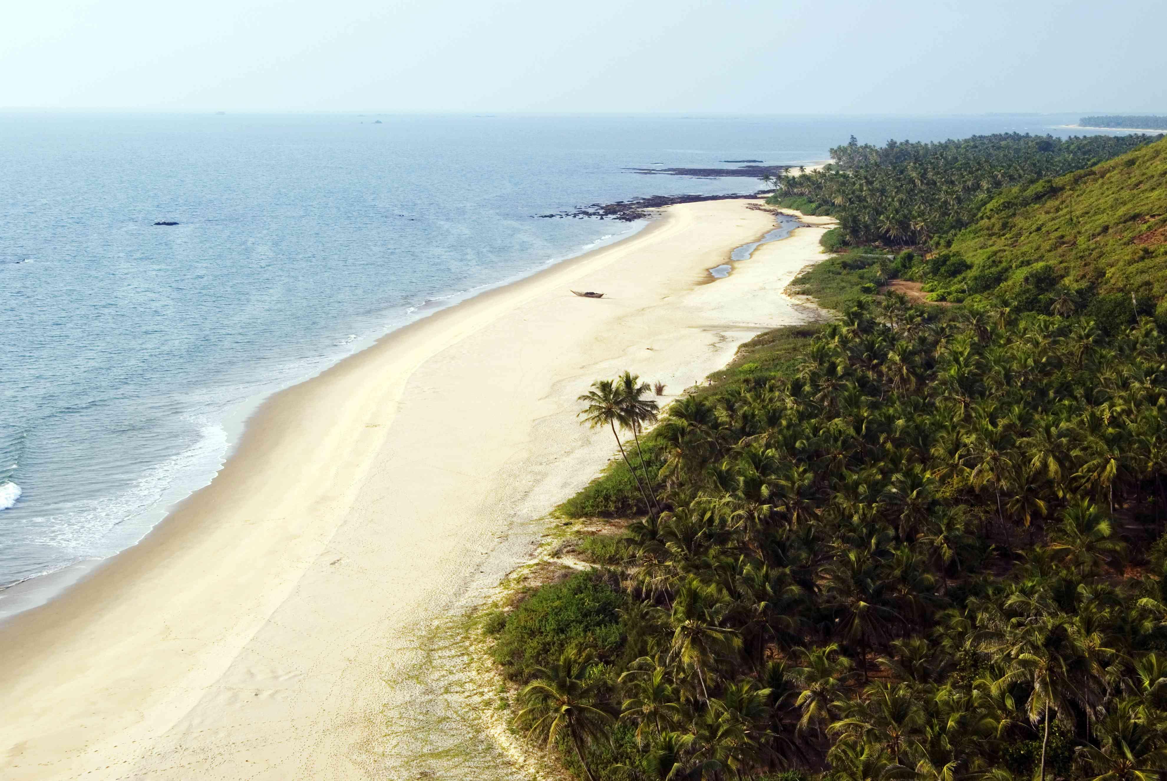 Unspoiled Bhogwe Beach, near Tarkarli.