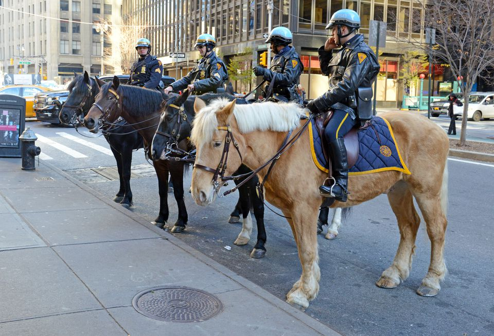 NYPD Mounted Police Unit in New York City