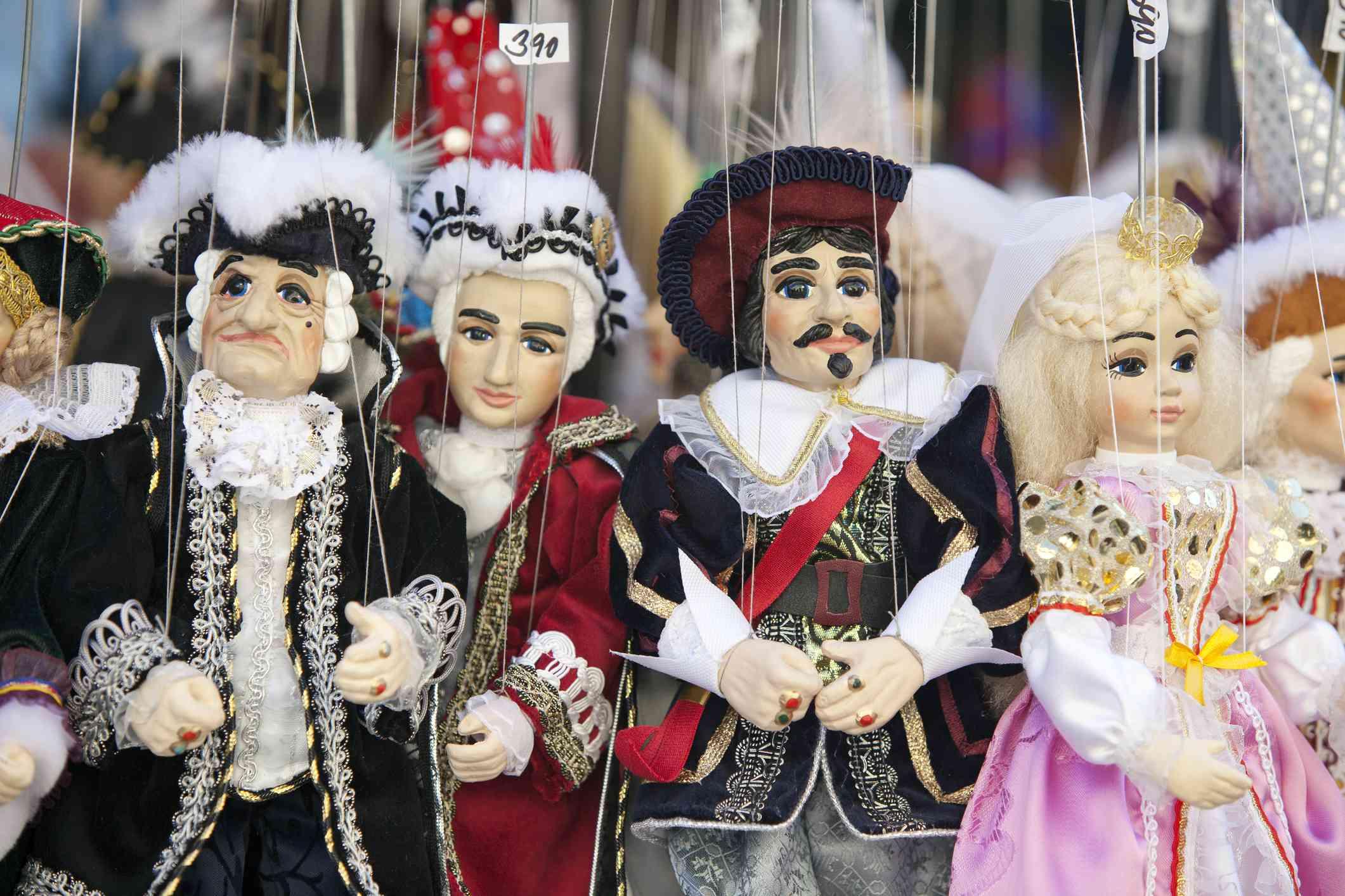 Marionetas en venta en la República Checa