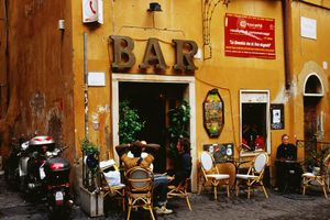 A bar in Rome, Italy