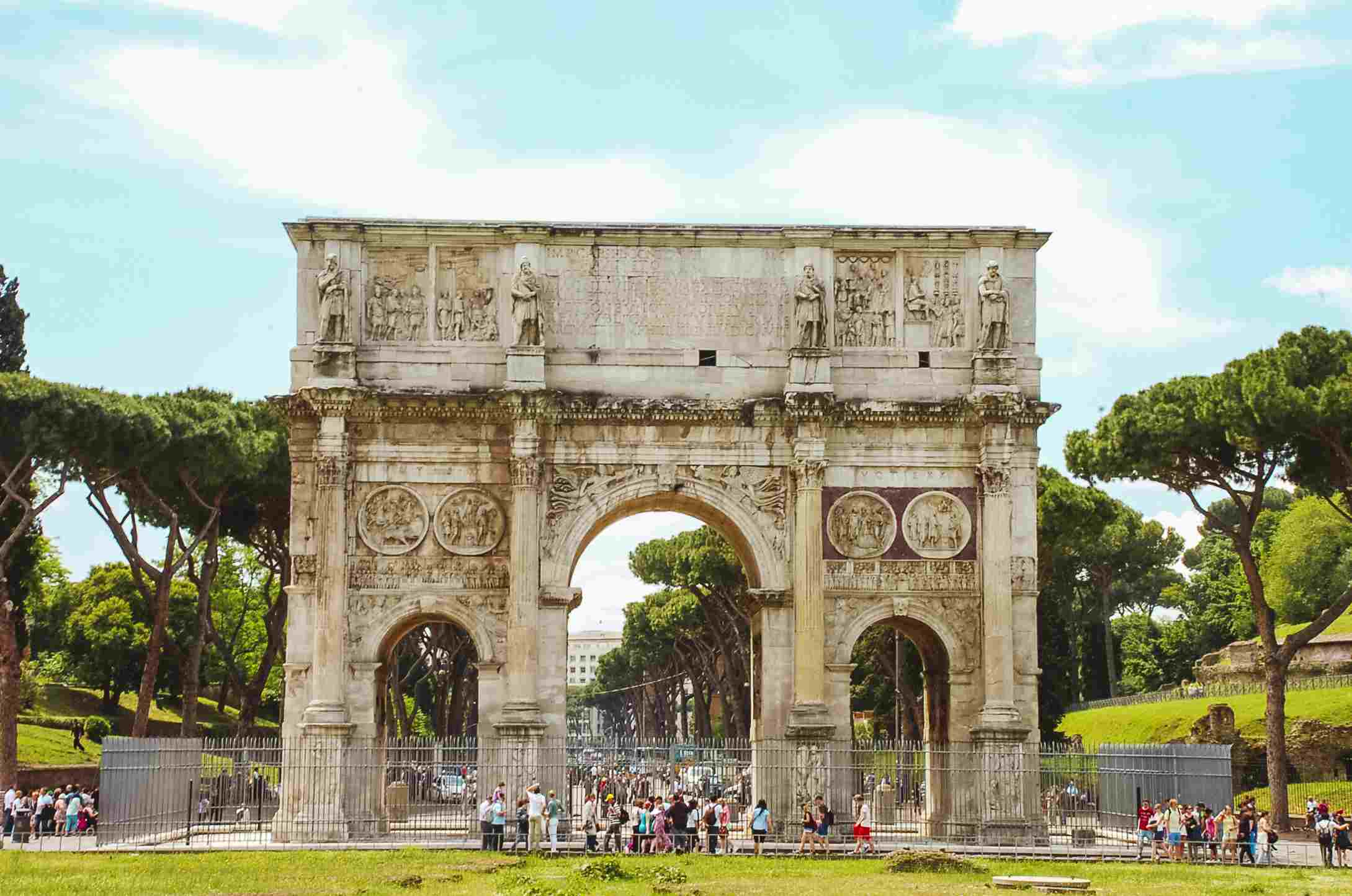 An ancient archway in Rome