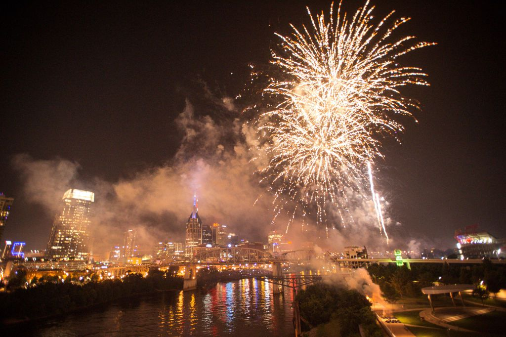 Fireworks set off over Nashville