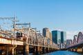 Wide cityscape of Osaka