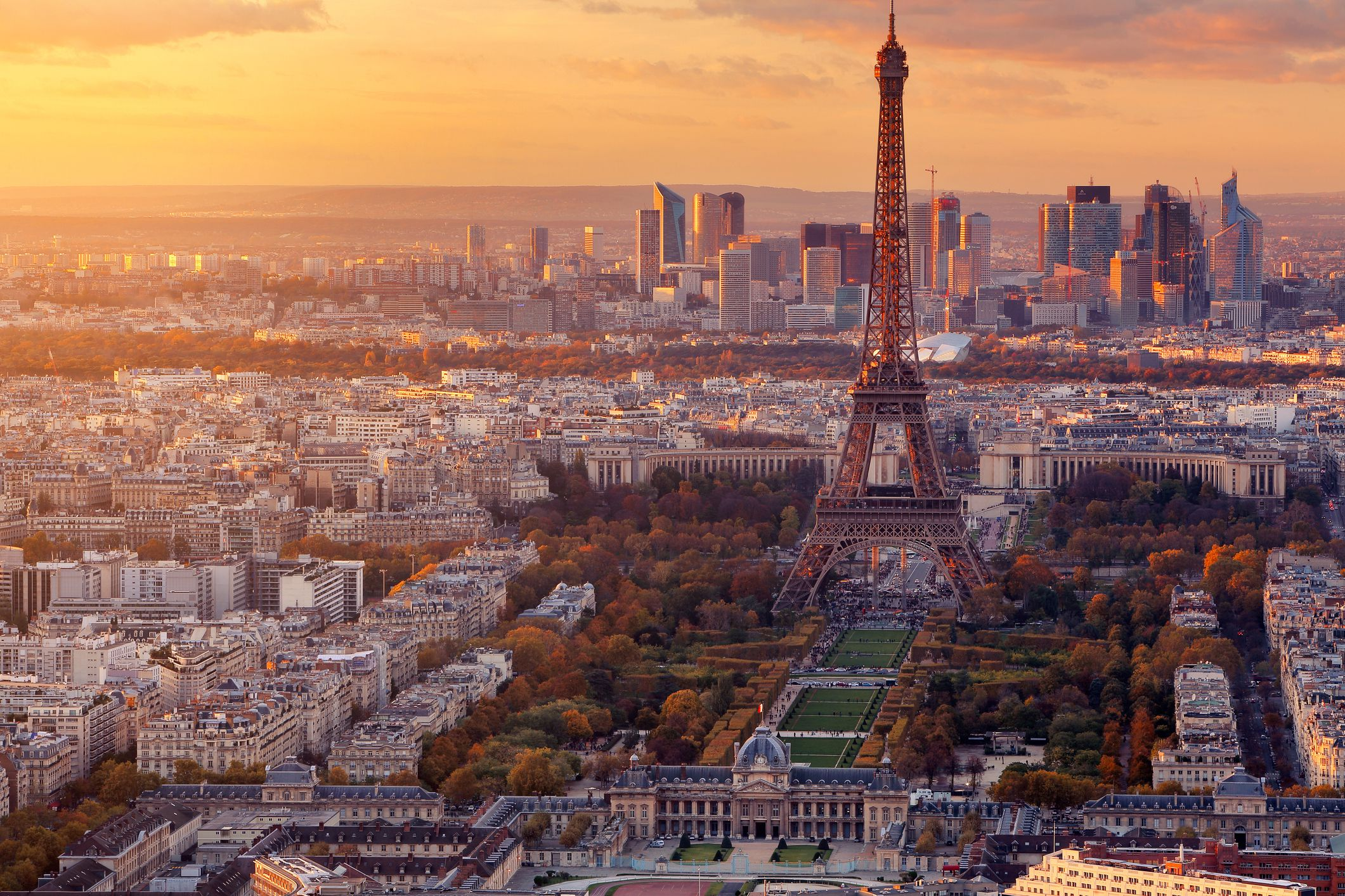 View of Paris and the Eiffel Tower from Montparnasse Tower