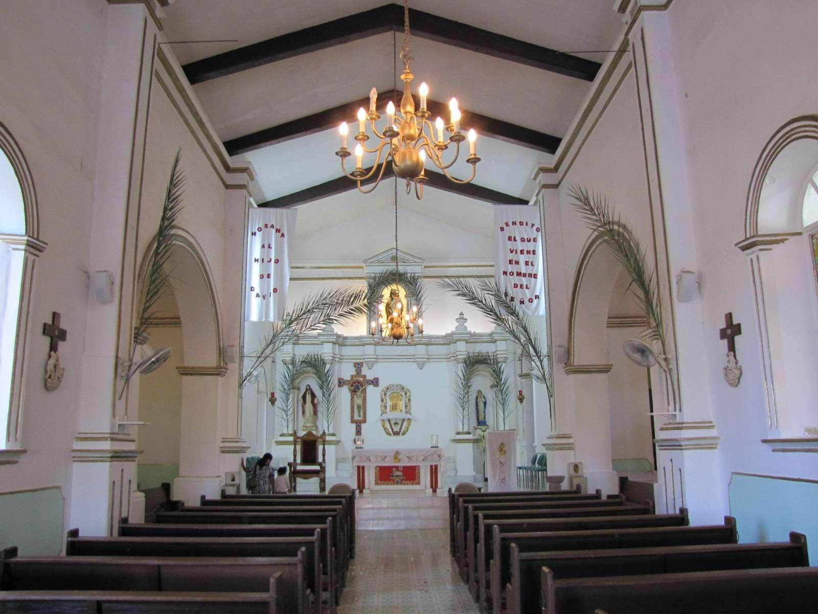 Interior of church in San Jose del Cabo
