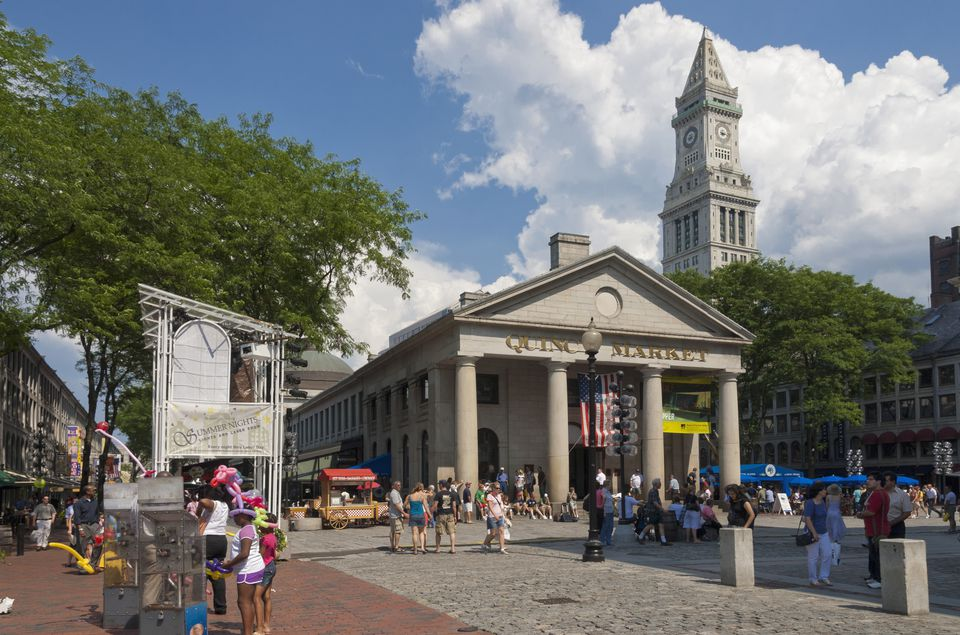 Quincy Market, Boston, Massachusetts, USA,