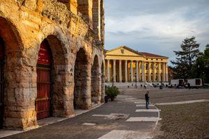 Roman Arena on Piazza Bra in Verona, Italy