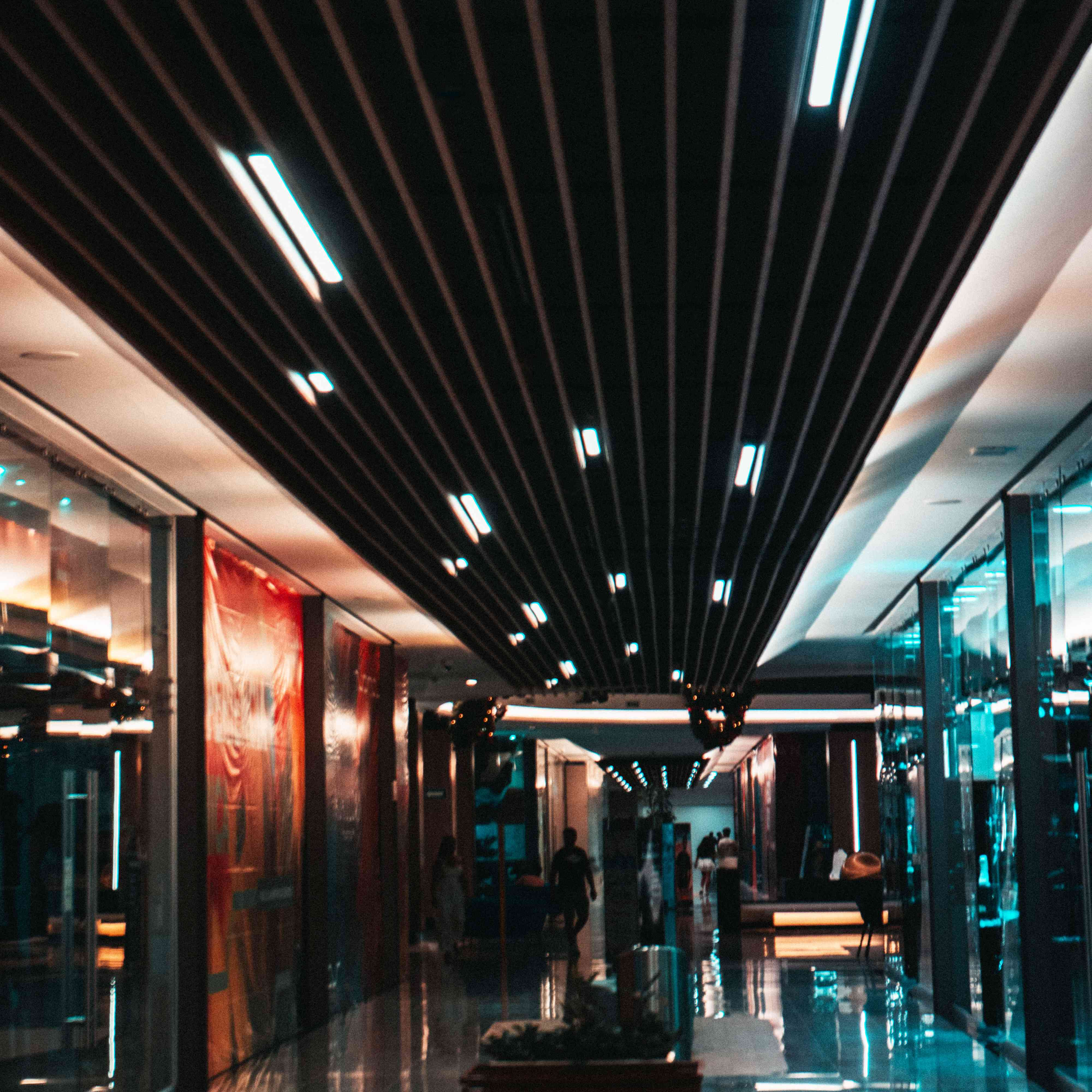 Inside hallway of Luxury Avenue shopping mall