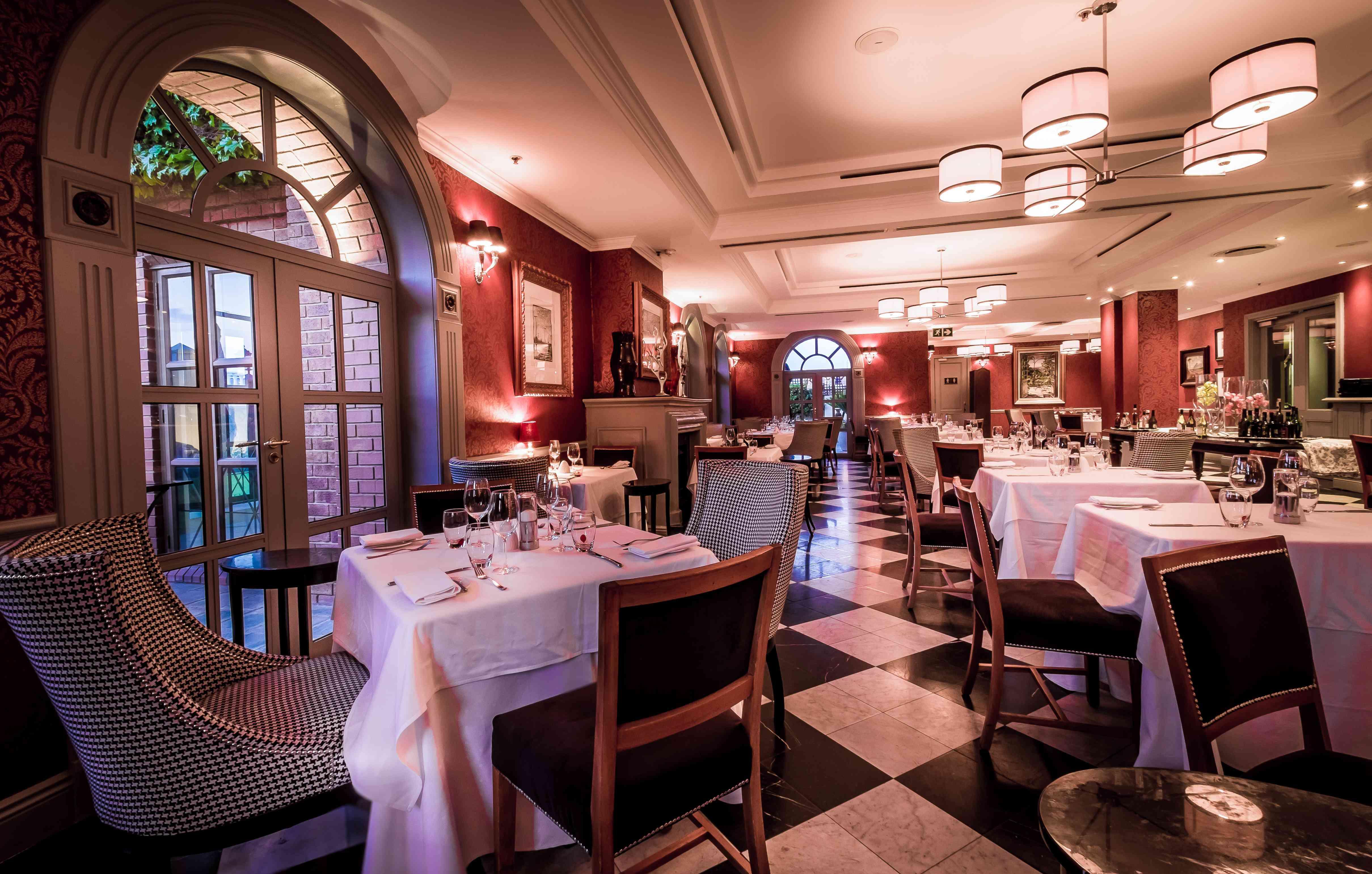 Interior of Level Four restaurant in Johannesburg