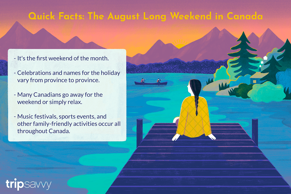 August long weekend in Canada