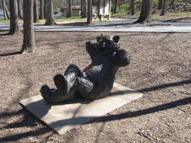 Bear statue in Picnic Area