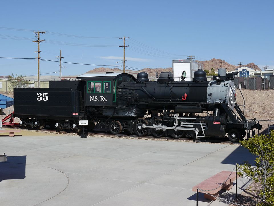 Pacific Lumber Company 35 at the Nevada State Railroad Museum