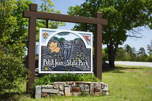 Petit Jean Mountain State Park sign Arkansas