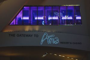 Entrance to the Aria