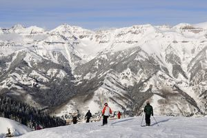 Skiing, See Forever Slope, Telluride, Colorado, USA
