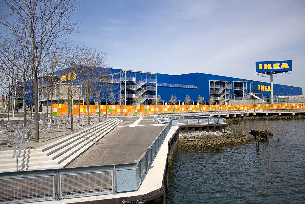 Ikea In Red Hook Brooklyn As Seen From A Water Taxi