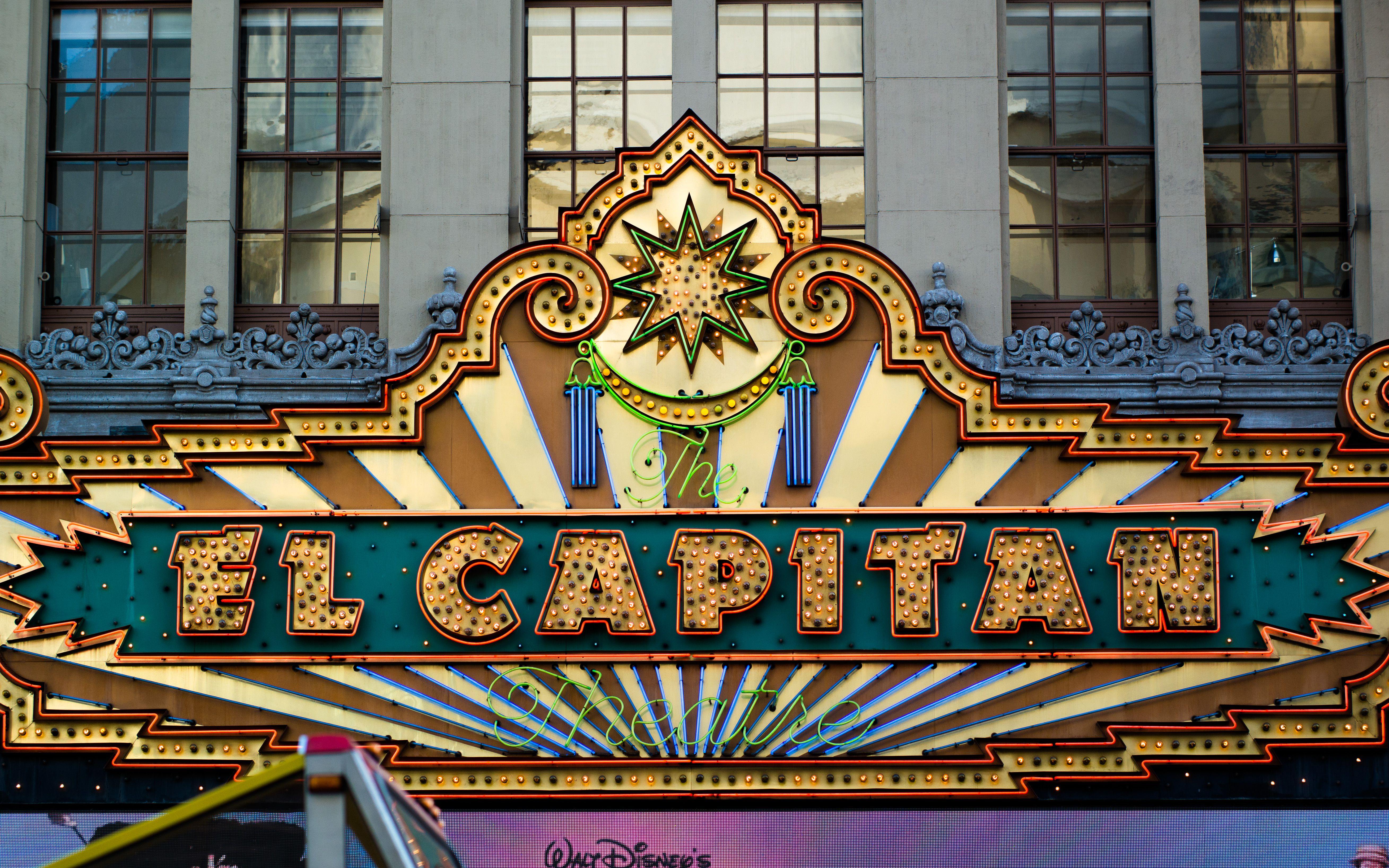 El Capitan Theatre marquee