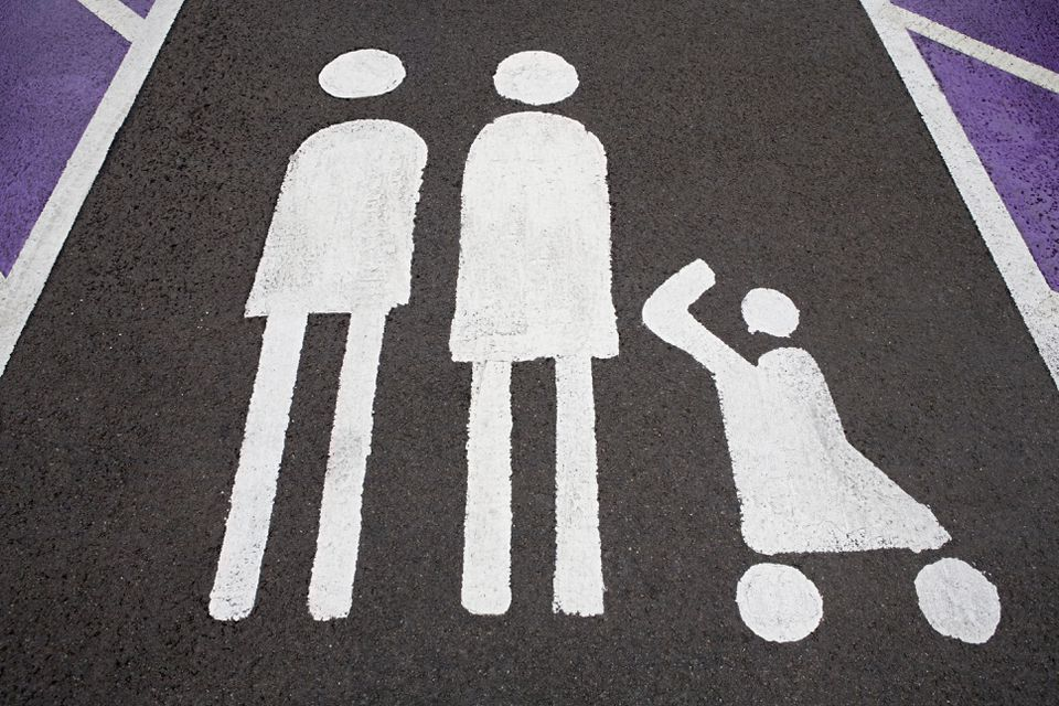 Stroller parking space